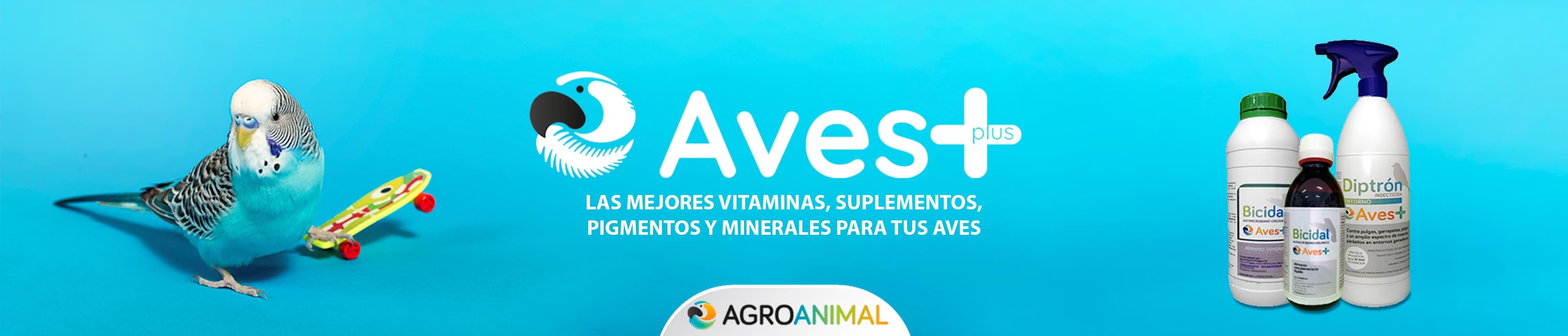 Vitaminas y suplementos para aves marca Aves+